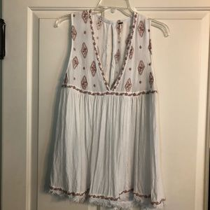Cute Free People white and Pink top